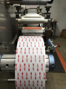 Industrial strength double sided tape